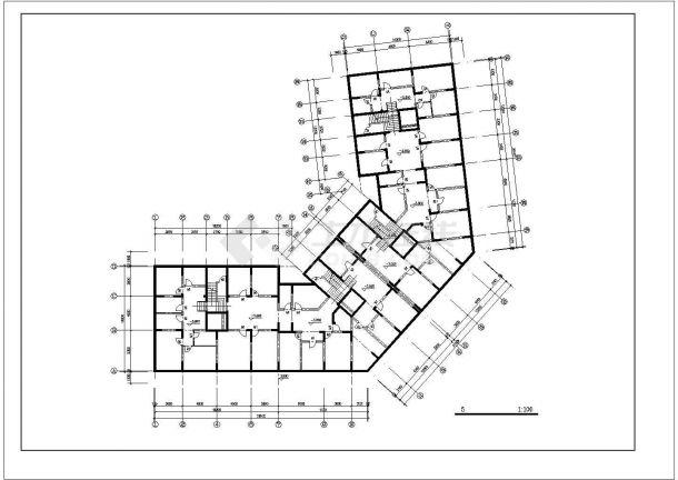 南昌市浦苑小区11层框架结构商住楼平立面设计CAD图纸(含机房层)-图二