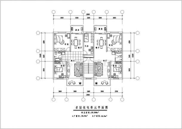 湖州市北岸香颂小区经典热门的平面户型设计CAD图纸(共九张)-图二