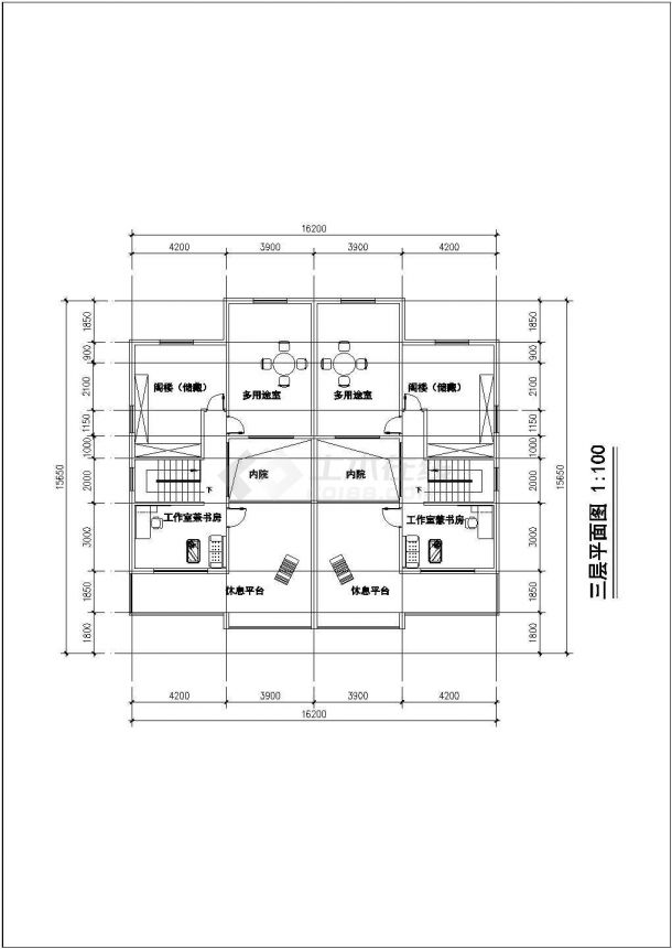 舟山市金河村3层框架结构单体别墅楼建筑设计CAD图纸(3套方案)-图一