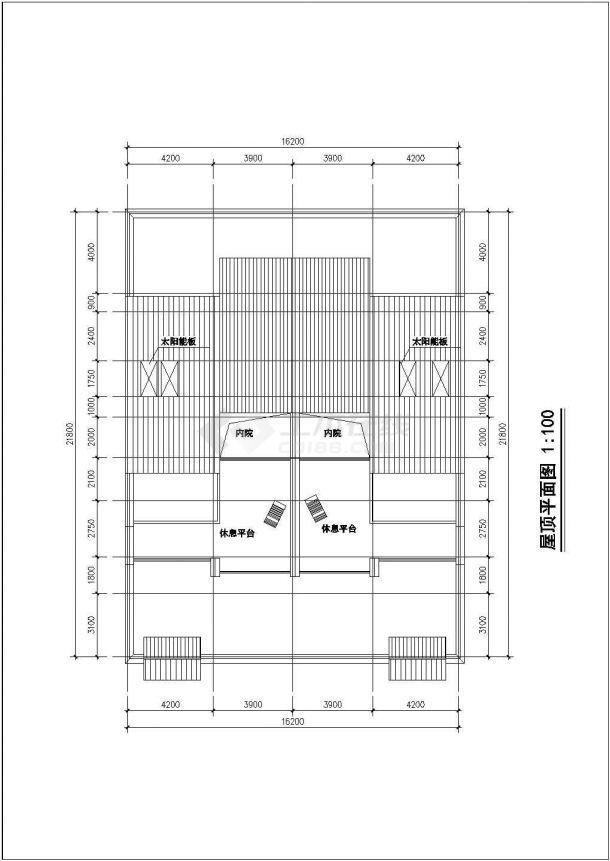 舟山市金河村3层框架结构单体别墅楼建筑设计CAD图纸(3套方案)-图二