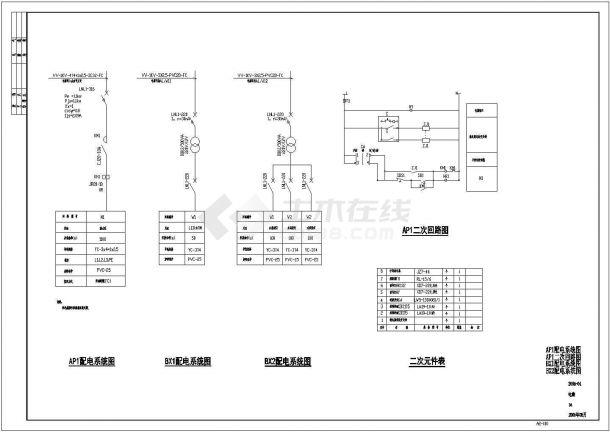 电气设计_某小区景观电气设计CAD图-图一