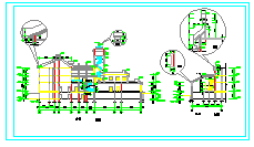 某接待中心建筑设计cad施工详图-图一