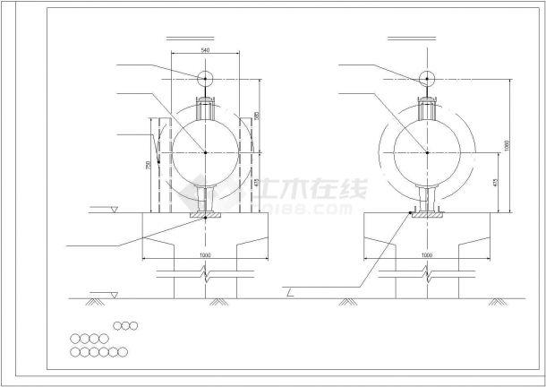 某城郊厂区蒸汽管网项目设计施工CAD图纸-图二