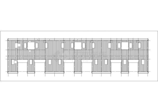 北京俪景小区6层砖混结构住宅楼建筑设计CAD图纸(含半地下室和阁楼)-图一
