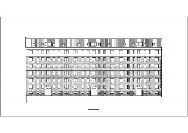 北京俪景小区6层砖混结构住宅楼建筑设计CAD图纸(含半地下室和阁楼)-图二
