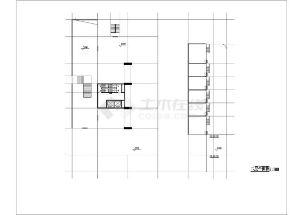 广州市迎宾花园小区18+2层框架商住楼建筑设计CAD图纸(1-2层商用)-图一