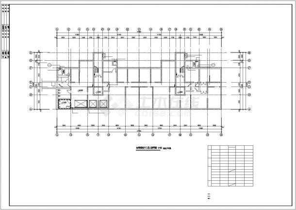 昆山市某大型购物商城地下单层停车场平面设计CAD图纸(2栋楼)-图一