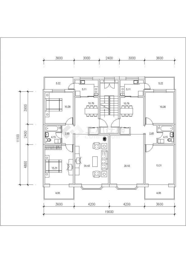 南宁市柏辉花园小区经典热门的平面户型设计CAD图纸(共14张)-图一