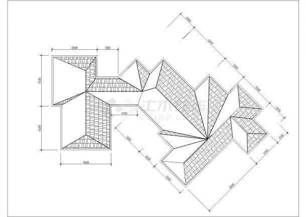 保定市徐水区真武山庄2层砖混结构休闲会馆全套建筑设计CAD图纸-图一