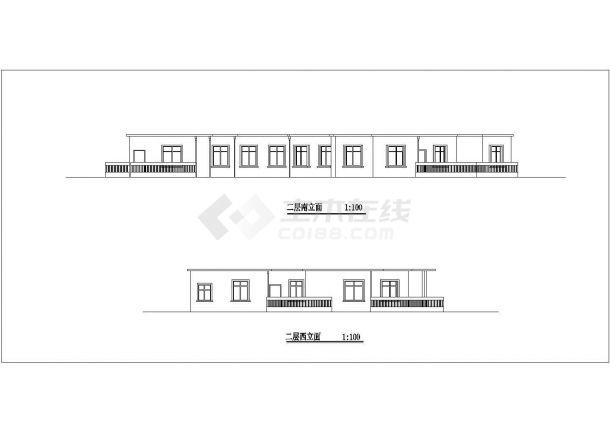 保定市徐水区真武山庄2层砖混结构休闲会馆全套建筑设计CAD图纸-图二
