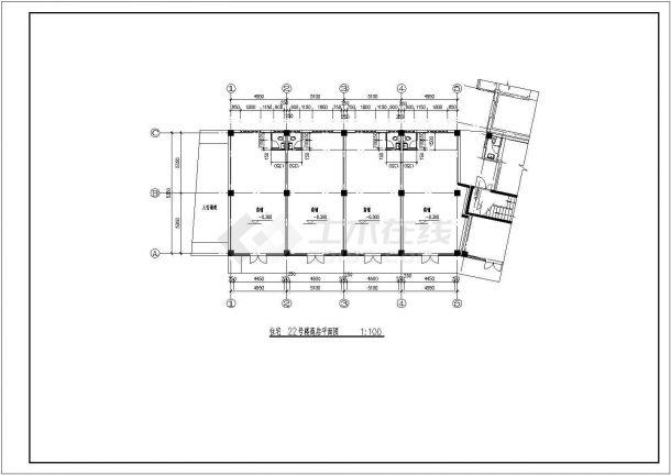 西安市诚馨花园小区6层组合式民居住宅楼平面设计CAD图纸(2套方案)-图一