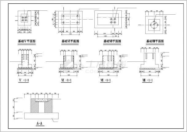 某锅炉房钢筋混凝土结构设计施工CAD图纸-图二