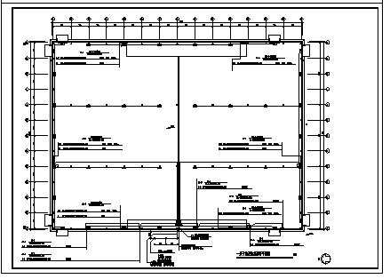 某单层厂房电气施工cad图(含照明及消防系统设计)-图二