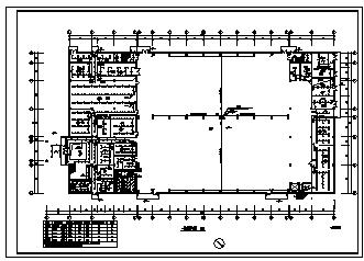 某二层工厂厂房电气施工cad图(含动力,弱电,照明设计)-图二