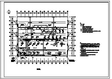 某市工业厂房电气施工cad图(含配电,照明设计)-图一
