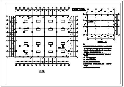 某市工业厂房电气施工cad图(含配电,照明设计)-图二