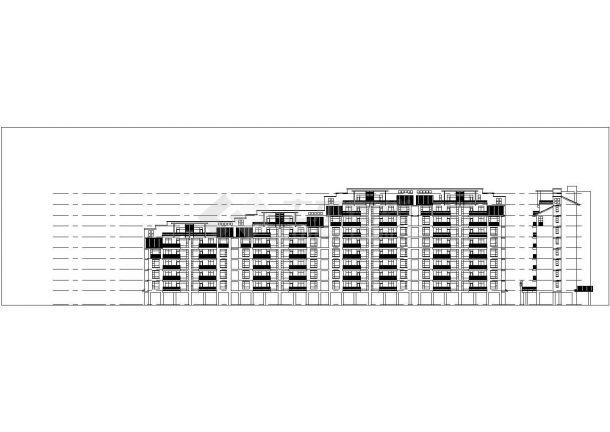 南京市江南雅苑花园小区总平面规划设计CAD图纸(含单体建筑图)-图一