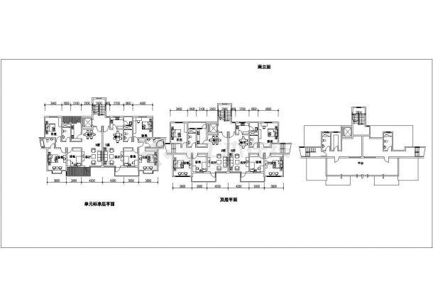 南京市江南雅苑花园小区总平面规划设计CAD图纸(含单体建筑图)-图二