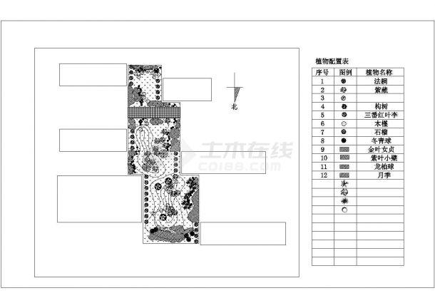 阳光花园小区景观绿化规划设计cad总平面施工图-图一