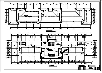 某市六层第一实验小学教学楼电气施工cad图(含配电,防雷接地系统设计)-图一