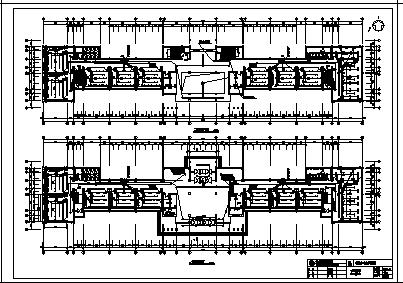 某市六层第一实验小学教学楼电气施工cad图(含配电,防雷接地系统设计)-图二