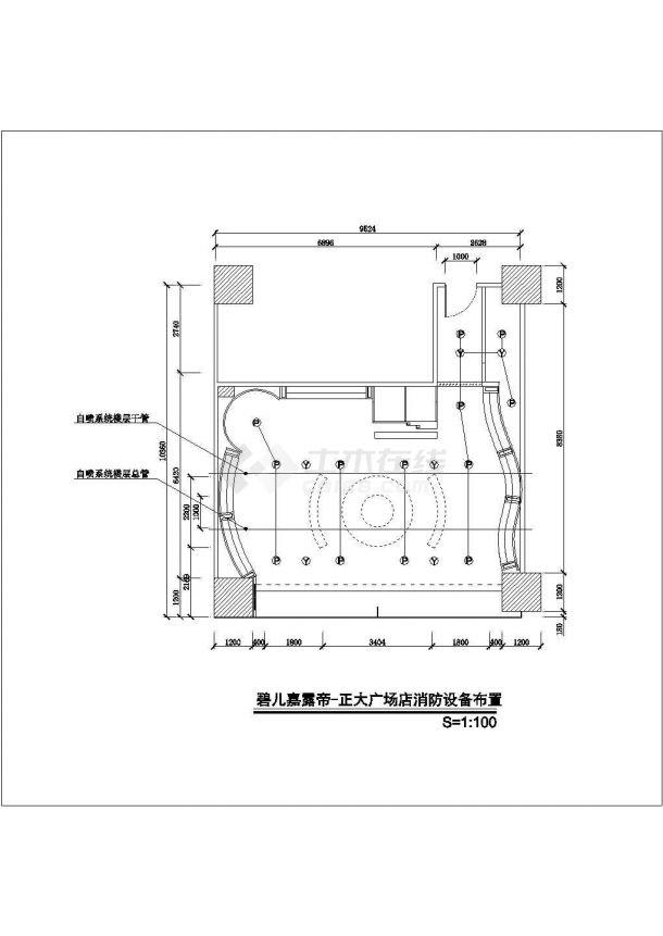 某服装商铺室内装修设计cad施工图-图二