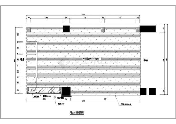 某品牌服装店室内装修设计CAD详细方案图-图二