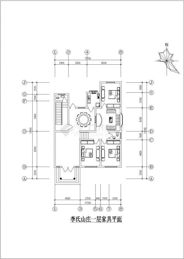 农家小型住宅建筑设计方案图-图一