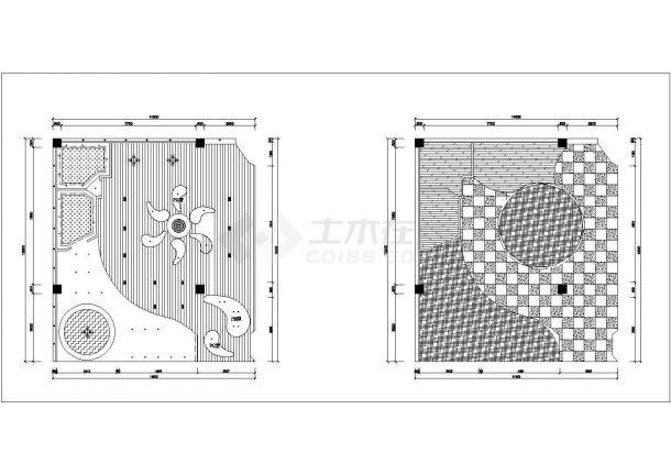某欧雅壁纸专卖店室内装修设计cad全套施工图-图二