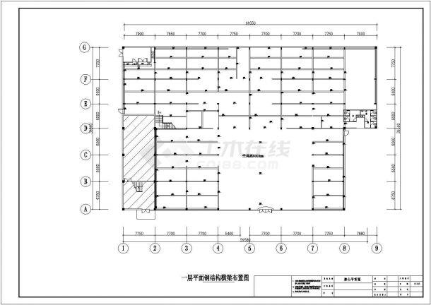 某陶瓷专卖店室内装修设计CAD全套施工图纸-图二