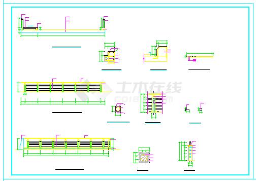 某桥结构施工全套cad施工图纸(照明 平面 剖面)-图二