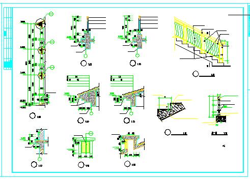 某三层欧式独栋别墅建筑cad设计图纸-图二