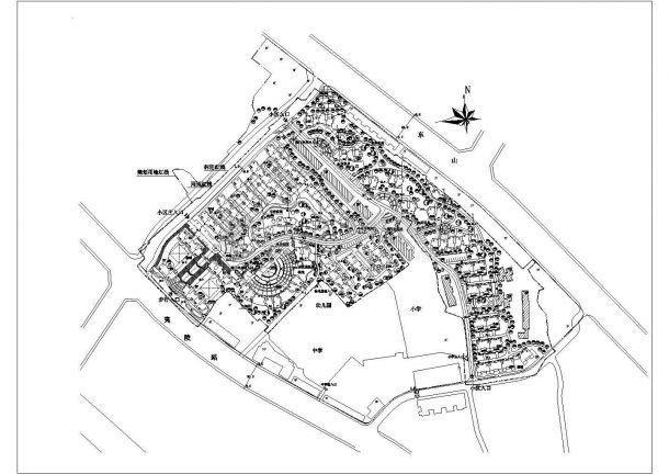 航运新村高层住宅区规划设计cad总平面施工图(含经济技术指标)-图二