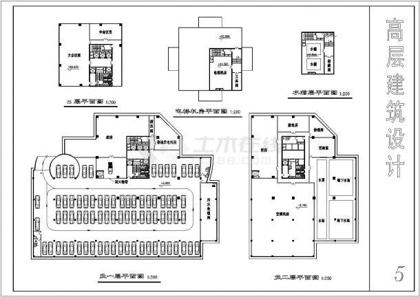高层简约住宅建筑设计方案图-图一