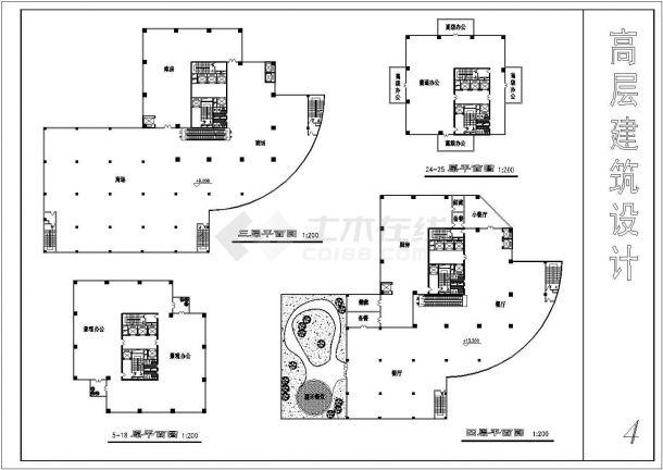 高层简约住宅建筑设计方案图-图二