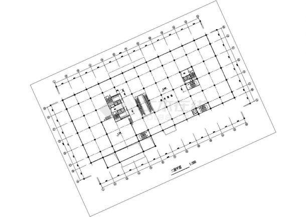 高级写字楼建筑设计方案图-图一