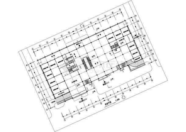 高级写字楼建筑设计方案图-图二