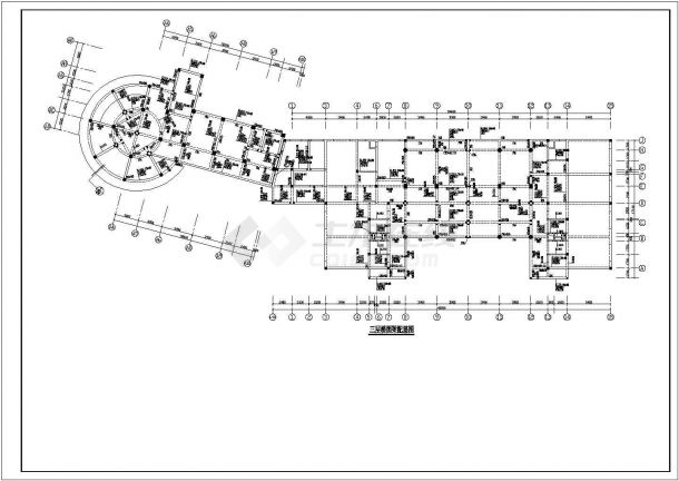 某卷烟厂招待所框架结构建筑设计施工CAD图纸-图一