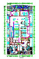 某市大型商场整套cad建筑设计平面施工图纸-图一