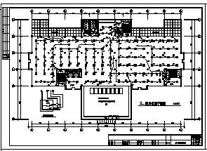 某市区地上五层带半地下一层新建图书馆大楼电气施工cad图(含电力、照明、消防设计)-图二