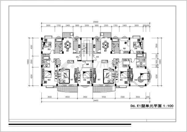 某新区8#地块建筑设计方案图-图一