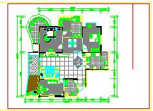 欧式豪宅家装施工设计cad平面图-图一