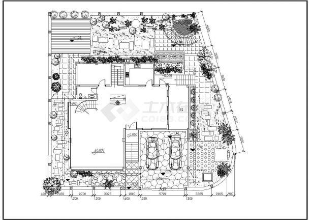 某别墅区工程建筑规划图设计CAD图纸-图一