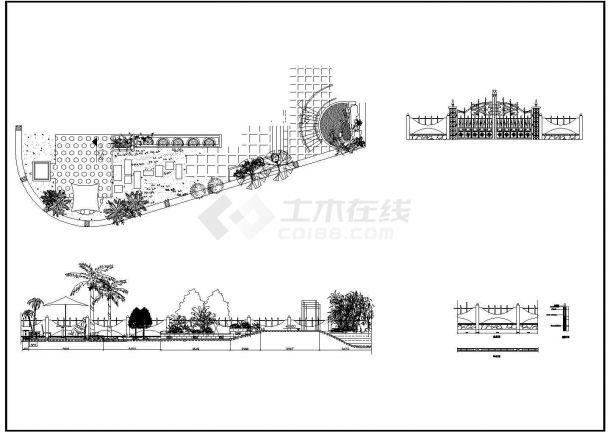 某别墅区工程建筑规划图设计CAD图纸-图二