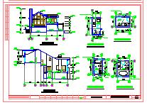 坡地独栋别墅建筑方案施工图-图二