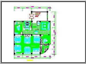 三层住宅装修设计cad平面图天花板施工图-图二