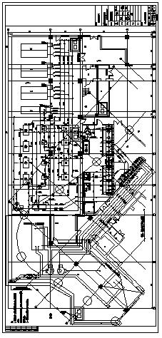 制冷机房大样设计_某大厦制冷机房大样设计cad图纸-图二