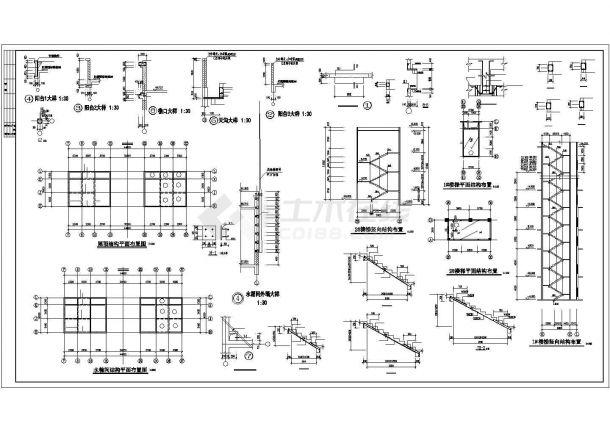 某小高层框架结构建筑设计施工CAD图纸-图二