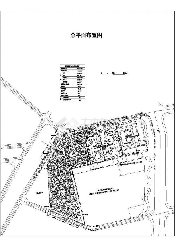 美食城商住小区景观设计图-图一