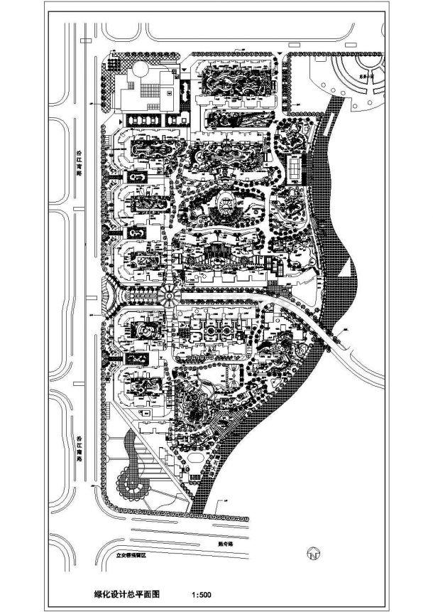 欧式居住小区绿景观设计图-图一